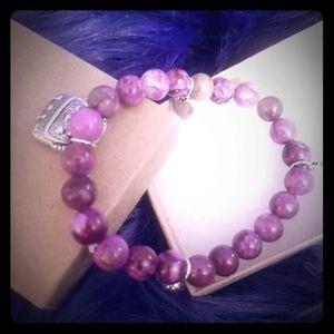 Sugilite Handmade Charm Bracelet